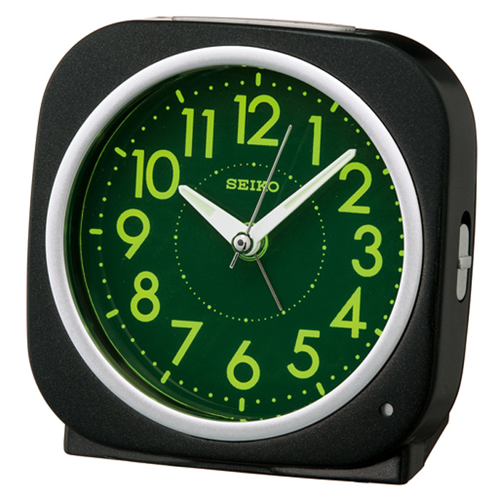 セイコーKR889K目覚まし時計夜でも見える自動点灯タイプスタンダード