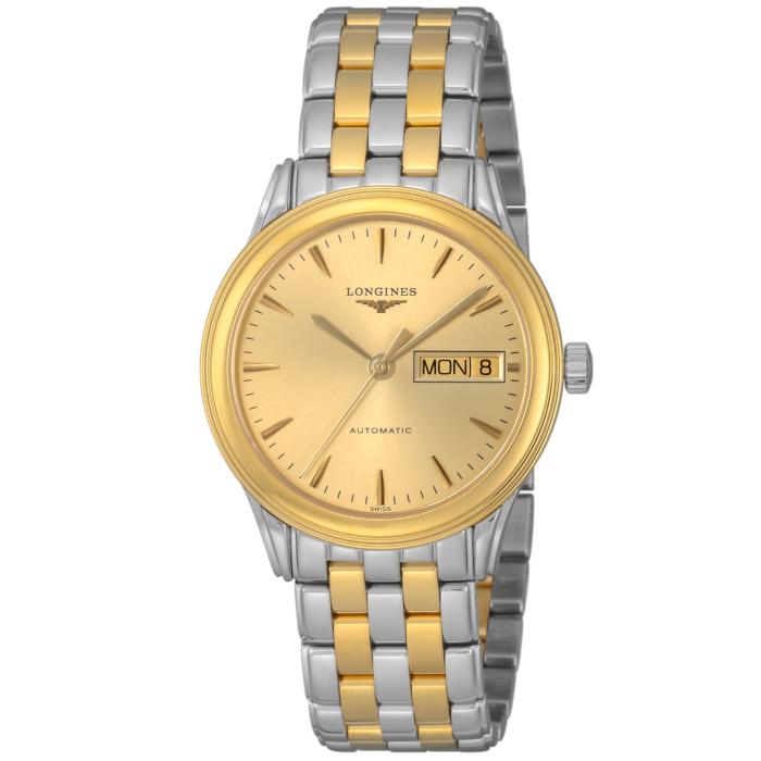 ロンジンL4.799.3.32.7メンズ腕時計フラッグシップOMLOPD