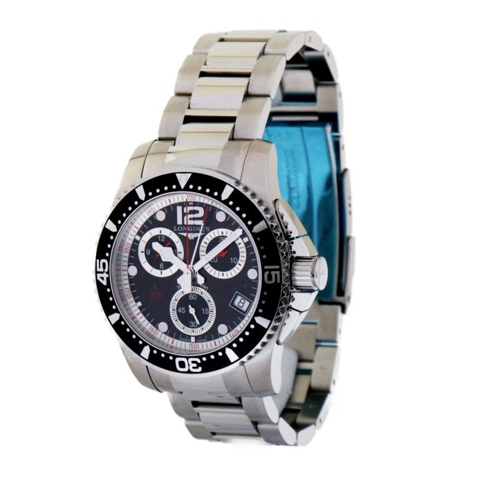 ロンジンL3.743.4.56.6メンズ腕時計ハイドロコンクエスト LONGINESL37434566人気男性クロノグラフシルバーブラックOMLOPD