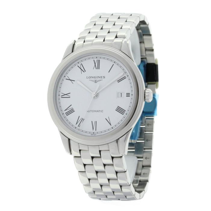 ロンジンL4.974.4.11.6メンズ腕時計フラッグシップ LONGINESFlagship男性おしゃれかっこいいシルバーホワイトOMLOPD