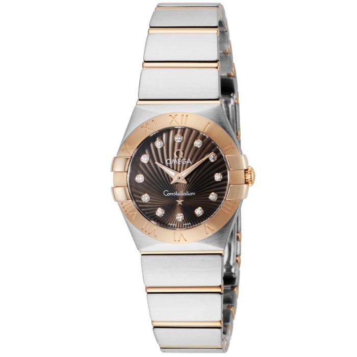 オメガ123.20.24.60.63.001レディース腕時計コンステレーション|OMEGAConstellation12320246063001女性人気ウォッチシルバーレッドゴールドダイヤモンド