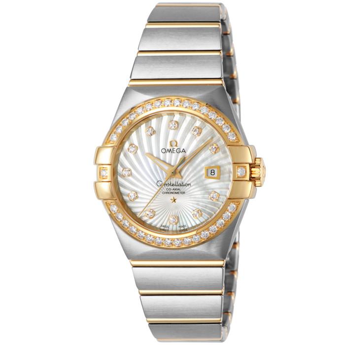 オメガ123.25.31.20.55.002レディース腕時計コンステレーション OMEGAConstellation女性おしゃれキレイ高級ブランドイエローゴールドシルバーホワイト