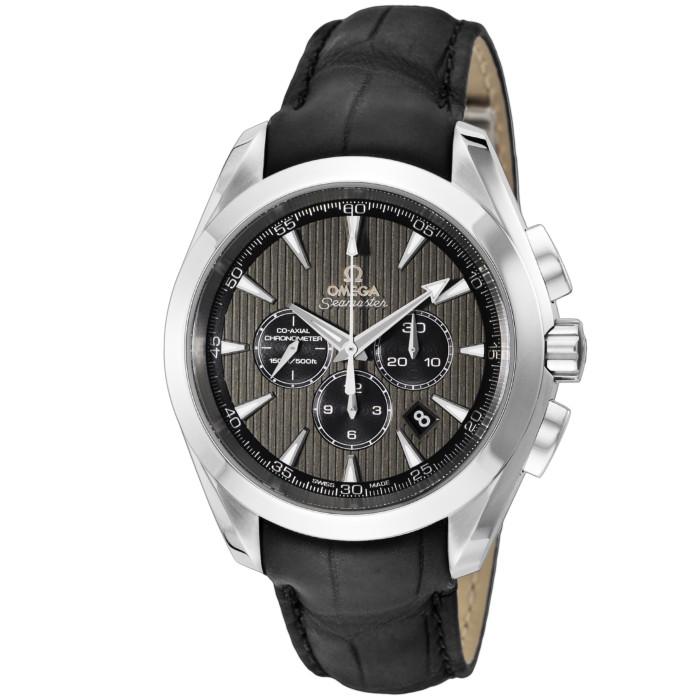 オメガ231.13.44.50.06.001メンズ腕時計シーマスターアクアテラ|OMEGASeamasterAquaTerra男性おしゃれかっこいい高級ブランドシルバーブラック革