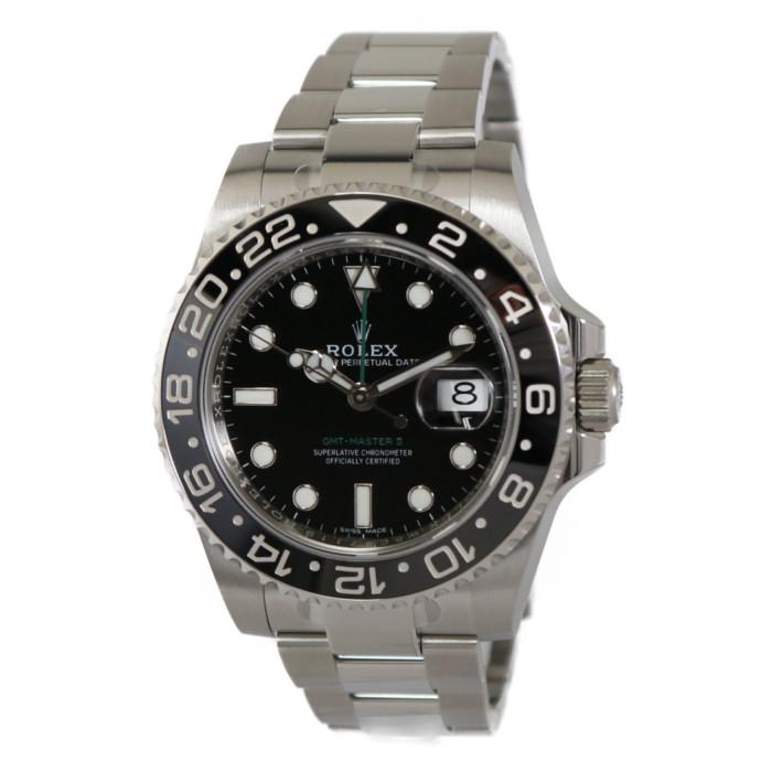 【カード決済不可・銀行振込のみ(振込手数料はお客様支払)】 ロレックス 116710LN  ブラック BK メンズ 時計 【ROLEX】