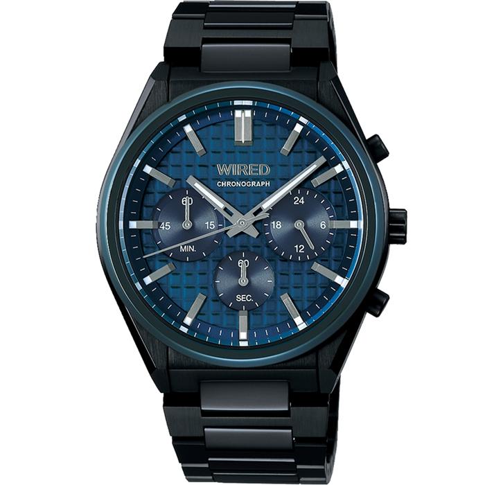 【送料無料!】セイコー ALBA アルバ WIRED ワイアード AGAT444 ネイビー NV メンズ腕時計 【SEIKO】