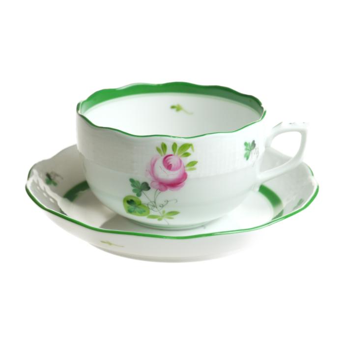 ヘレンド ウィーンのバラ ティーカップ&ソーサー 724
